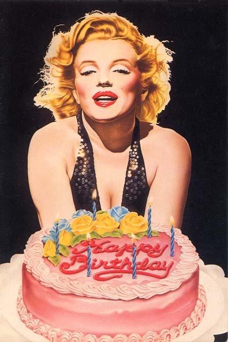 Marilyn Monroe Birthday Cake Photo
