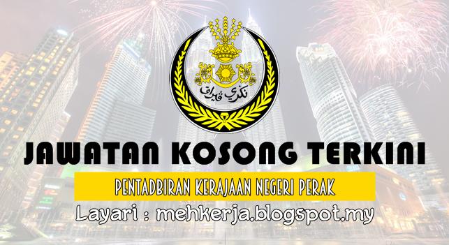 Jawatan Kosong Terkini 2016 di Pentadbiran Kerajaan Negeri Perak