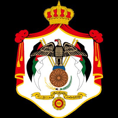 Coat of arms - Flags - Emblem - Logo Gambar Lambang, Simbol, Bendera Negara Yordania