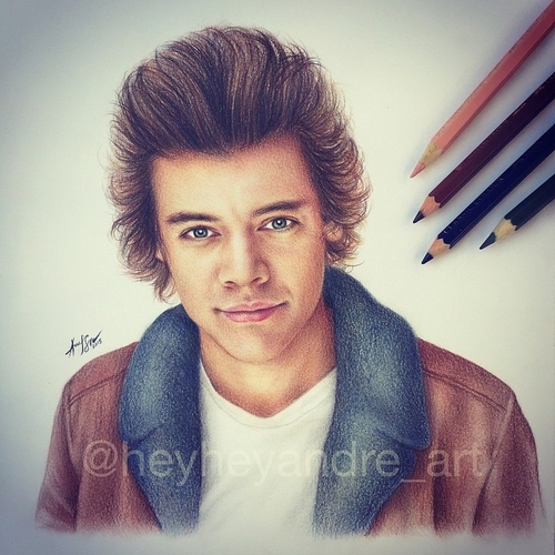 12-Harry-Styles-One-Direction-André-Manguba-Celebrities-Drawn-and-Colored-in-with-Pencils-www-designstack-co