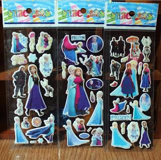 principessa anna elsa frozen gadget economico compleanno bambina stickers adesivi da muro