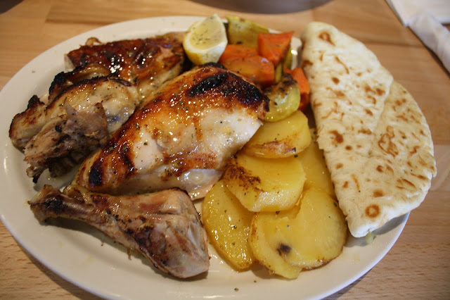Grecian chicken and potatoes at the Grill House