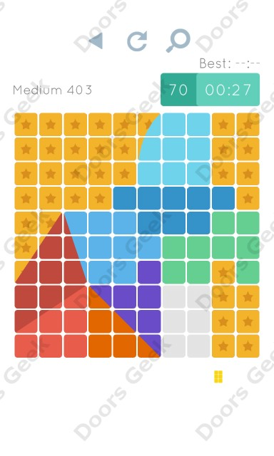 Cheats, Walkthrough for Blocks and Shapes Medium Level 403