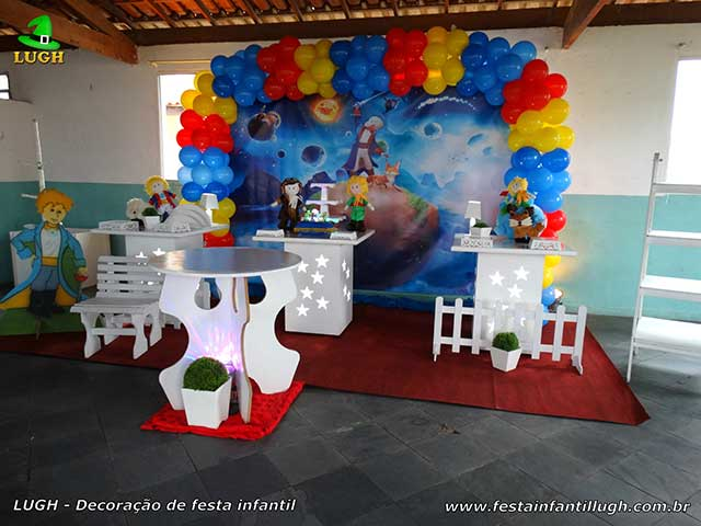 Decoração infantil Pequeno Príncipe - Mesa decorada para festa de 01 aninho