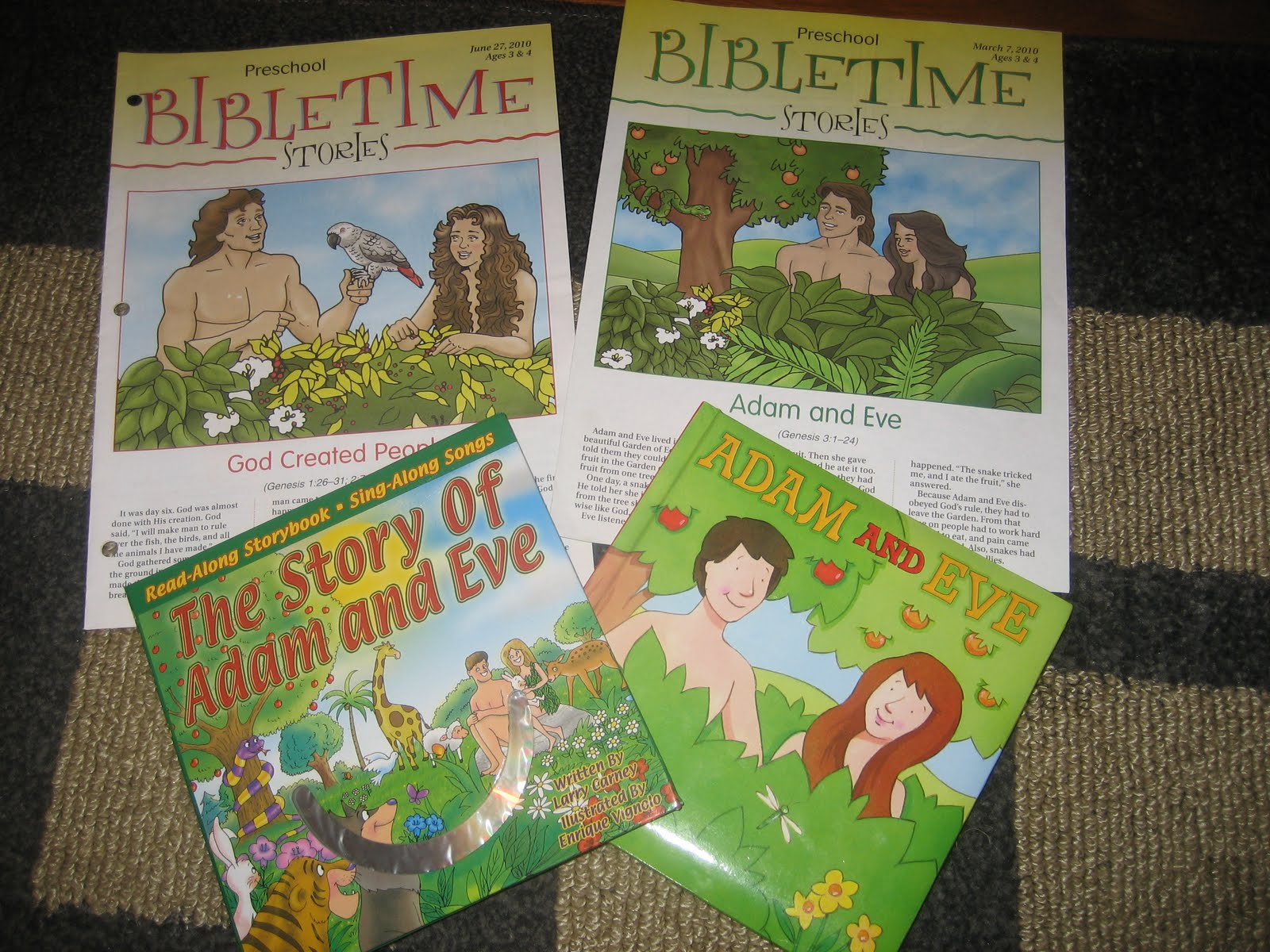 The Preschool Experiment Bible Basket Adam And Eve