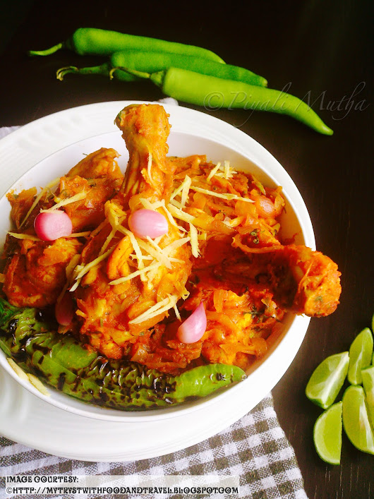 Pickled Onion Chicken With Roasted Peppers Recipe / Sirka Pyaz Murgh Bhuna Hua Hari Mirch Ke Sath
