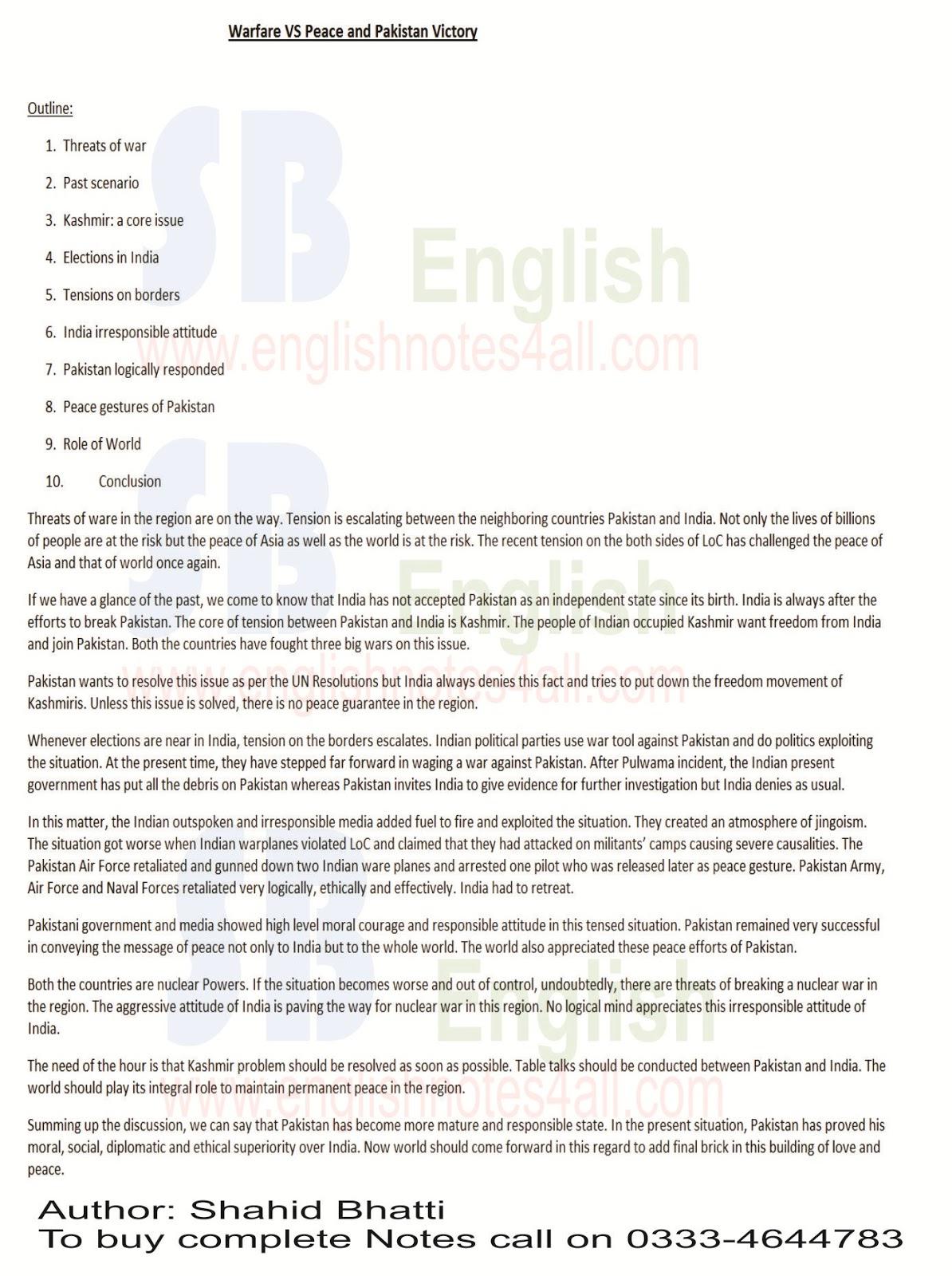 War versus peace essay college paper font