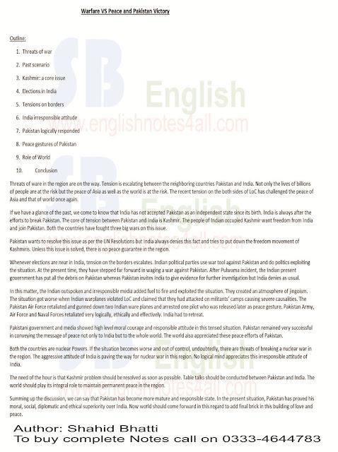 BA Essay on Kashmir,Tension on borders paksiatn and India