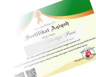 sertifikat aqiqah