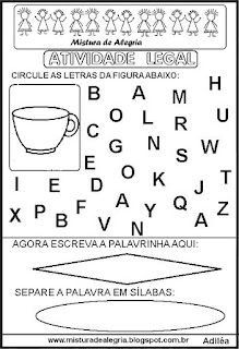Atividade legal de alfabetização X