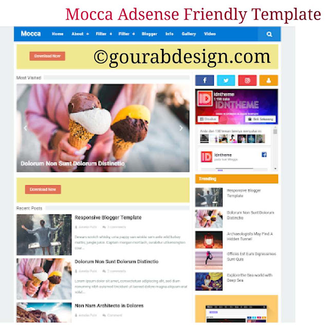 mocca responsive mobile friendly blogger template
