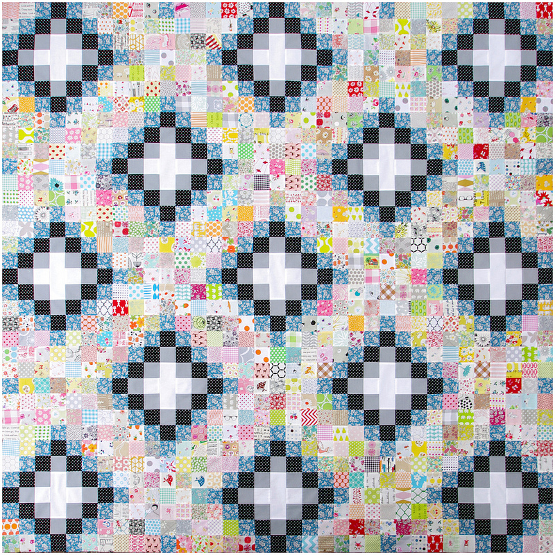 Memoire A Paris Irish Chain Quilt - work in progress | Red Pepper Quilts 2016