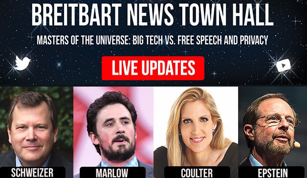 WATCH LIVE Breitbart News Town Hall – 'Masters of the Universe': Big Tech vs. Free Speech and Privacy