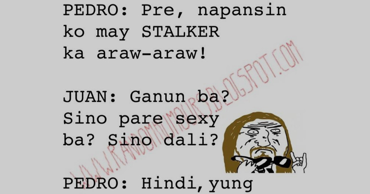 May stalker si Pare
