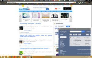 Pannelli con siti web in Chrome