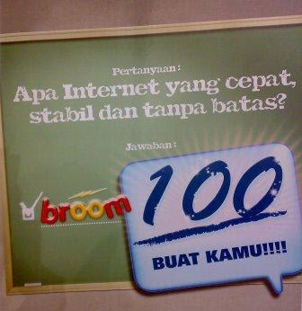 IM2 Luncurkan Broom 100, Unlimited, 2 Gb, Rp. 100.000