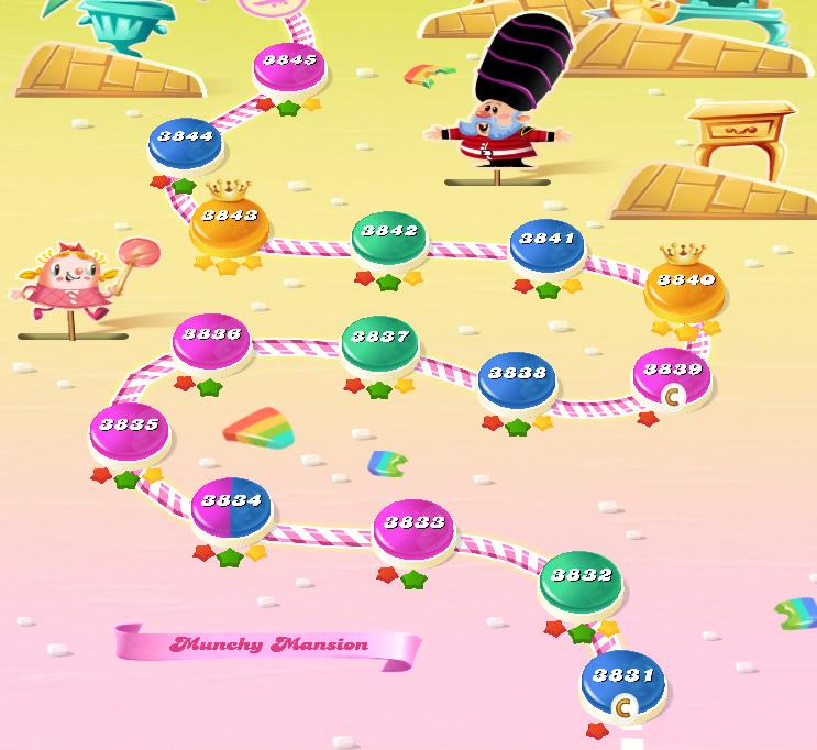 Candy Crush Saga level 3831-3845