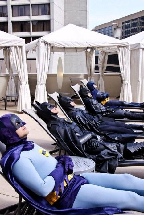 Batman Sunbathing