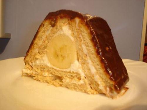 Тортик из печенья с банановым кремом
