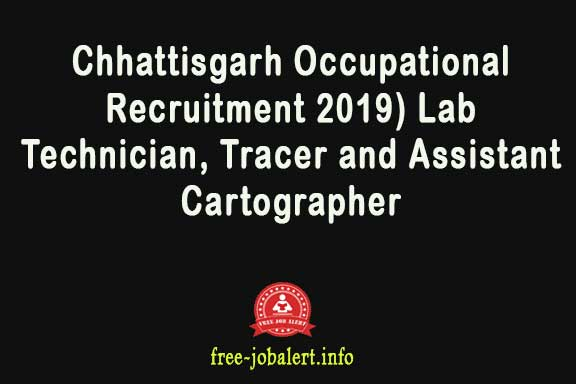 Application for Chhattisgarh Professional Examination Board (Chhattisgarh Occupational Recruitment 2019) Lab Technician, Tracer and Assistant Cartographer
