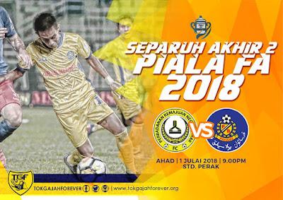 Live Streaming Pahang Vs PKNP FC Piala Malaysia 1 Julai 2018