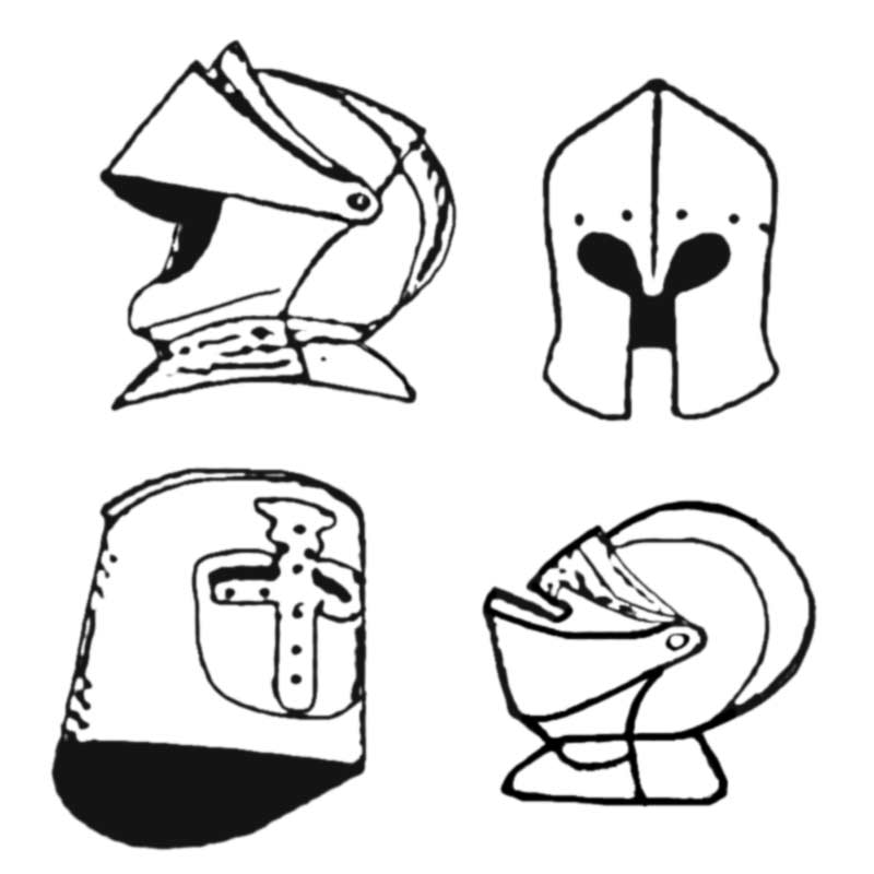 medieval helmet black line knight helmet coloring page. Black Bedroom Furniture Sets. Home Design Ideas
