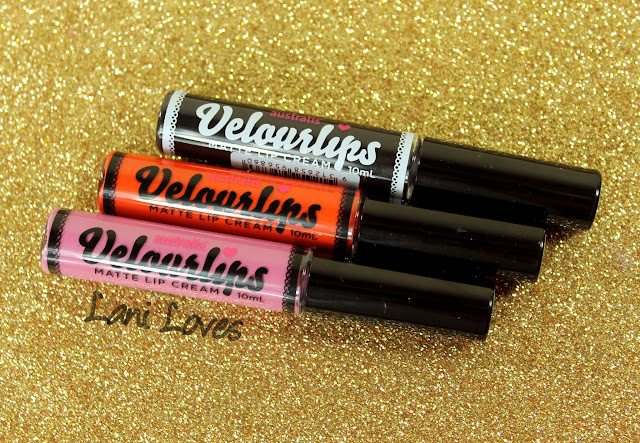 Australis Velourlips Matte Lip Cream - BAE-JING, SAN-FRAN-DISCO and MEL-BURN Swatches & Review + GIVEAWAY!