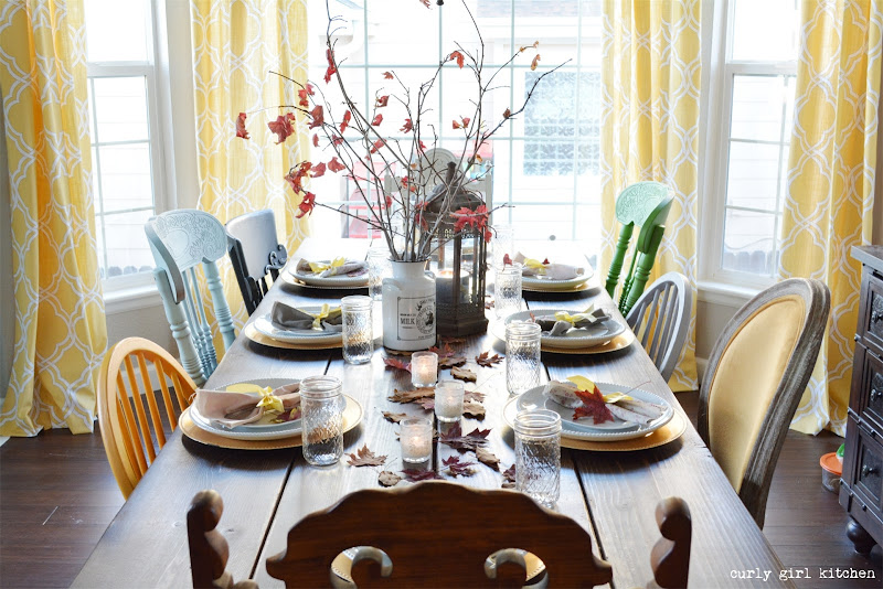 Dining Room, Farmhouse Table, Trestle Table, Holidays, Thanksgiving, Fall