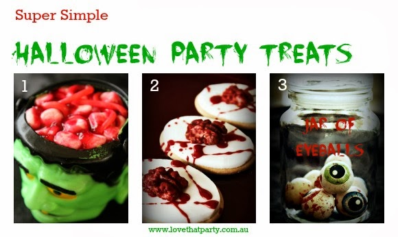 Super Simple halloween Party Treats: Last Minute Halloween Food Ideas. www.lovethatparty.com.au