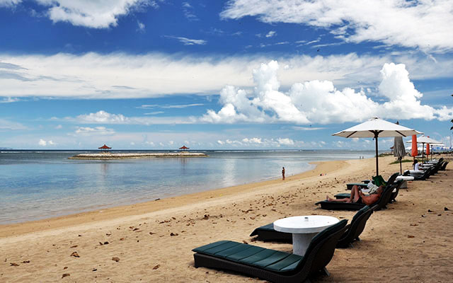 Sanur Beach - Beautiful Sunrise Landscape on The Island of Bali