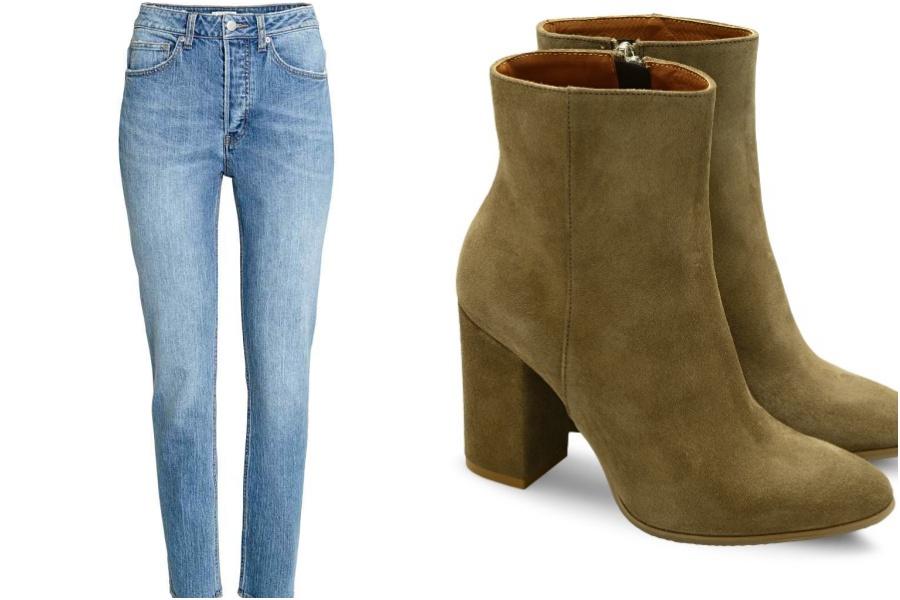 jeansy H&M, buty Ryłko