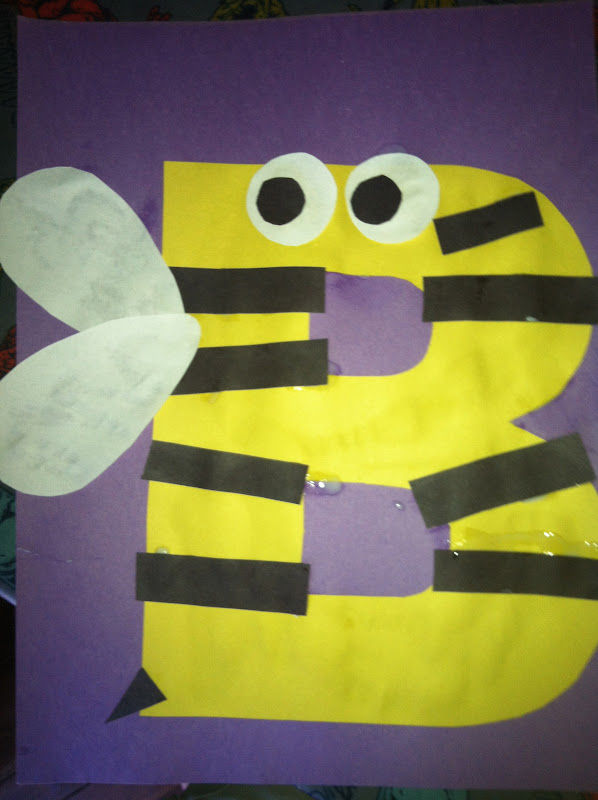 letter b crafts miss maren s monkeys preschool bumblebee template 22769 | IMG 2259