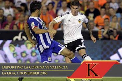 Prediksi Skor Deportivo La Coruna vs Valencia 1 November 2016
