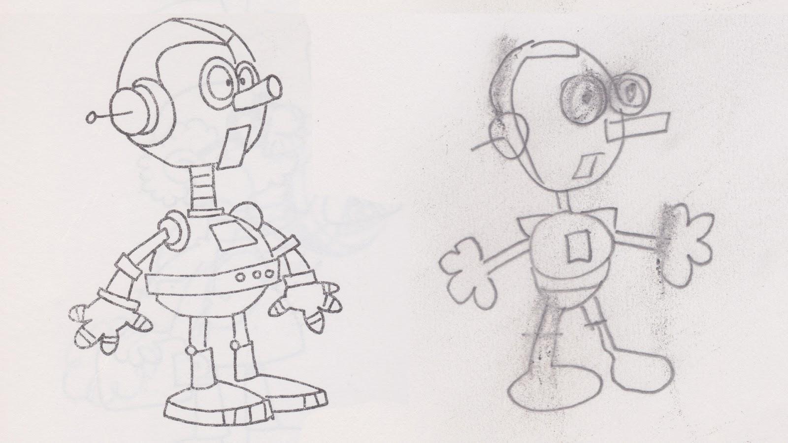 How To Draw Cartoons Robot