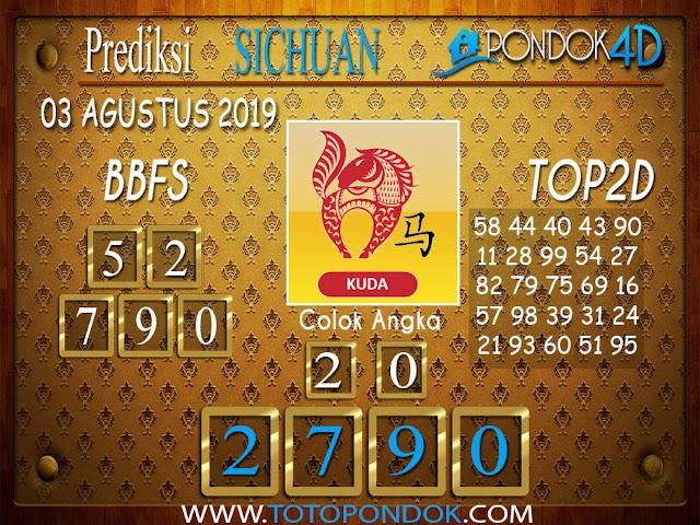 Prediksi Togel SICHUAN PONDOK4D 03 AGUSTUS 2019