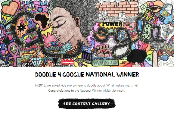 Eastern highschool student wins Doodle four Google contest, Google's U.S. homepage
