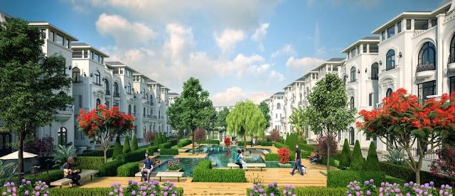 Cảnh quan siêu đẹp tại dự án sinh thái Louis City.