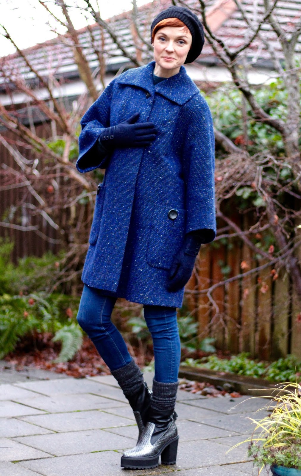1950's Vintage Coat & Chunky Boots | Fake Fabulous