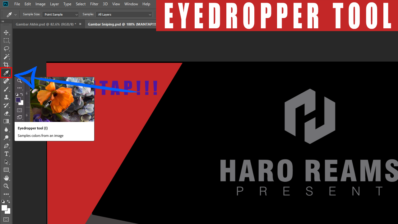 Mengenal Alat Crop dan The Eyedropper Pada Adobe Photoshop