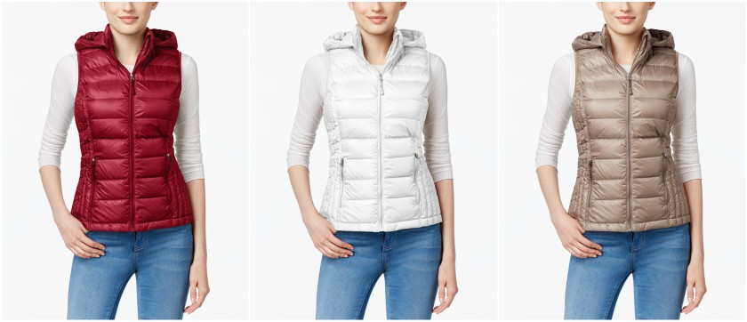32 Degrees Packable Down Hooded Puffer Vest $36 (reg $60) - also available as a full coat for $60 (reg $100)