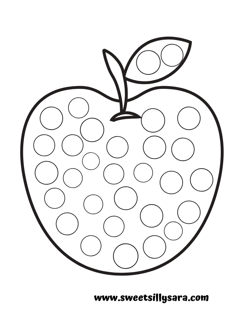 graphic relating to Apple Printable named Creating Truth with Sara: Apple Dot a Dot Printable