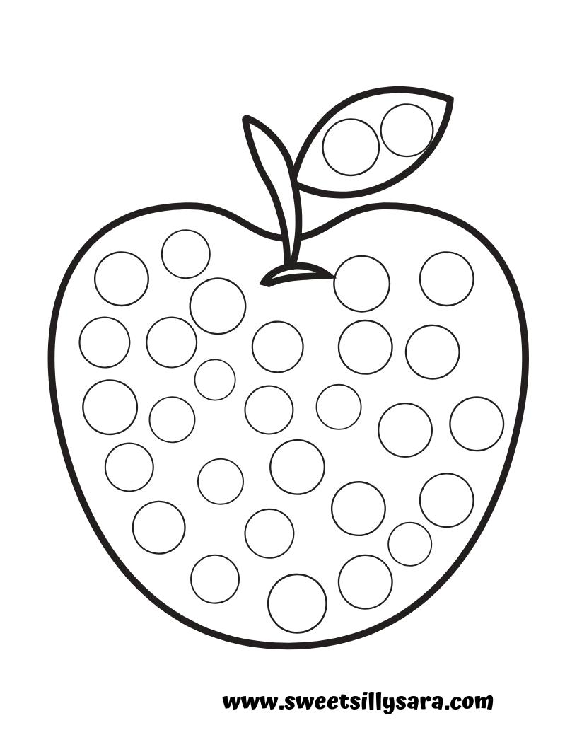 graphic regarding Apple Printable called Producing Real truth with Sara: Apple Dot a Dot Printable