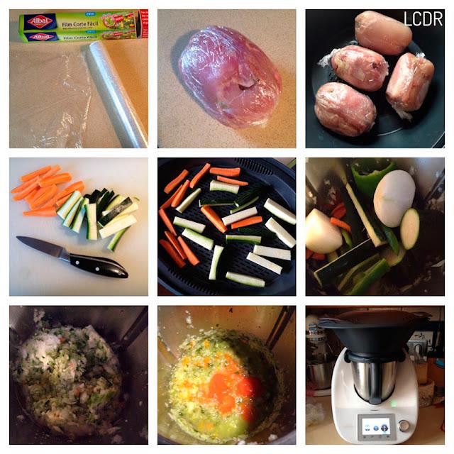 Receta de pollo relleno de setas, bacon y frutos secos 02