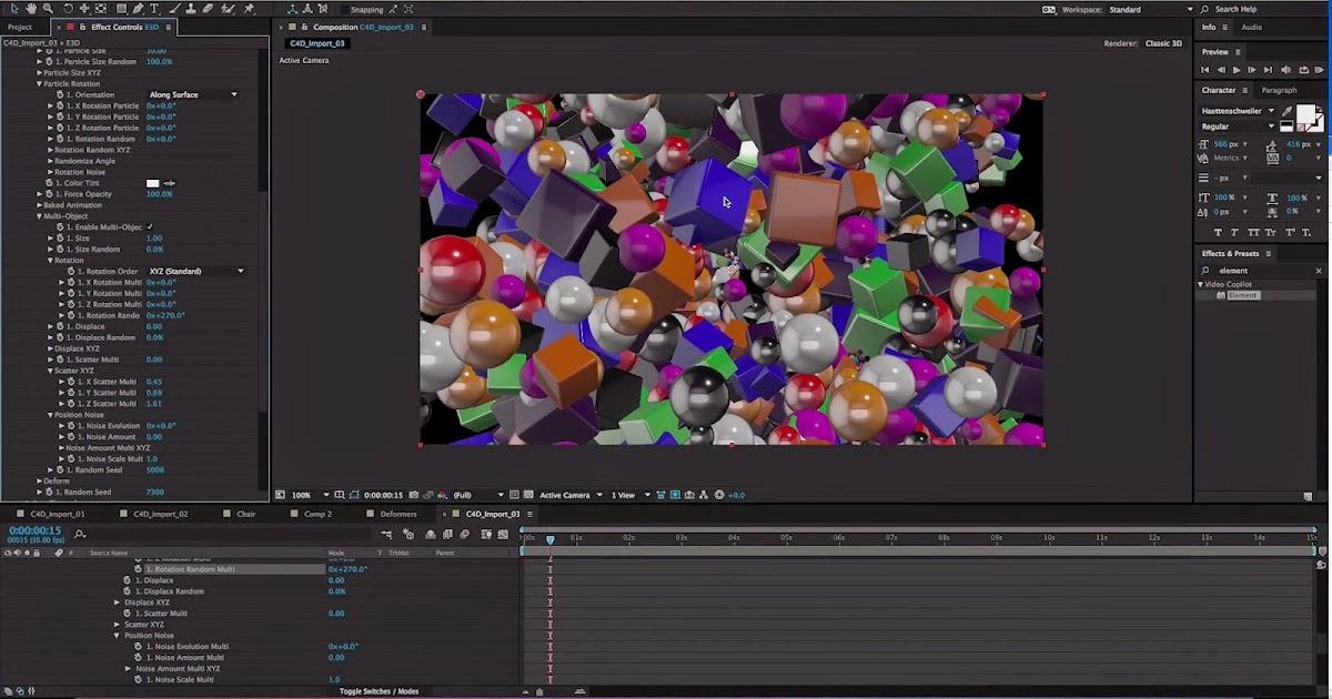 Element 3D V2 Tutorial - Cinema 4D Integration for After
