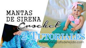 Cómo tejer Mantas de Sirena al Crochet / 2 tutoriales