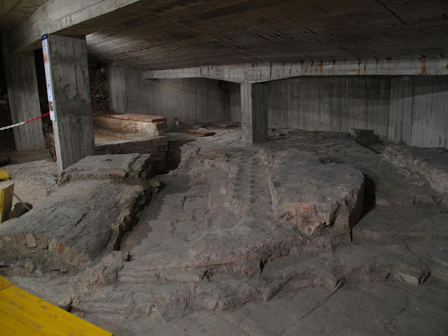 Remains of fourth century mausoleum discovered during work at Milan metro site