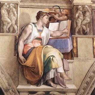 Sibila Eritrea, Michelangelo, Afersco Capela Sistina