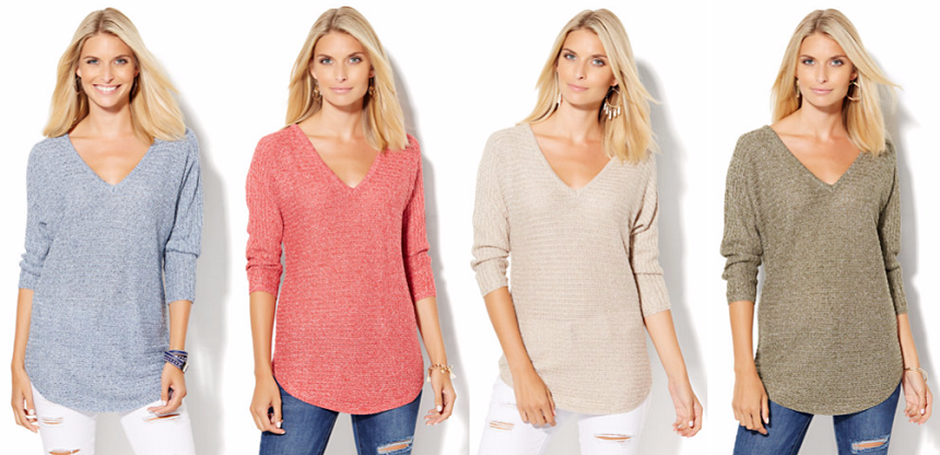 New York & Company: V-Neck Sweaters only $18 (reg $47)!