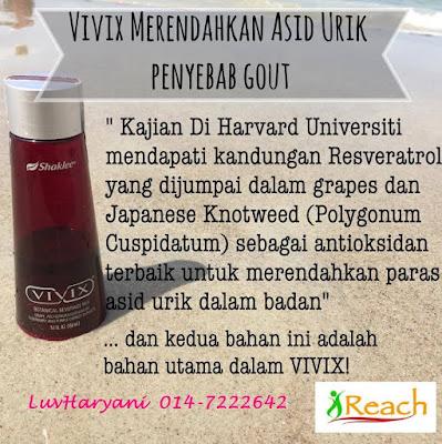 Vivix membantu merawat Gout