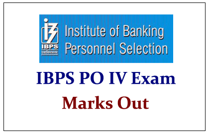 IBPS PO IV Exam Marks Out
